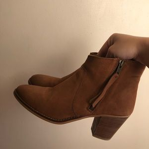 Urban outfitters brown leather boots